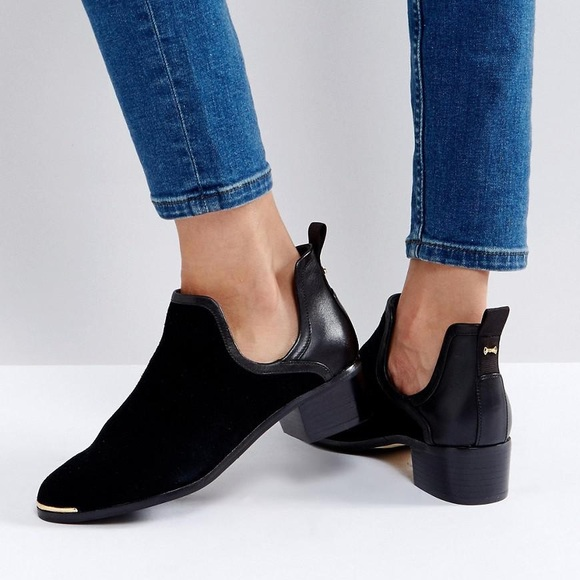587138bc732a Ted Baker Twillo cut out black suede ankle boots. M 5a3b6d102c705db8760005ec